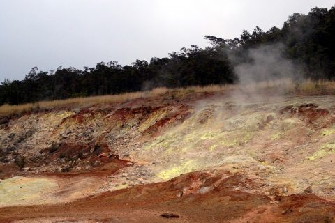 sulfur steams hawaï volcano park