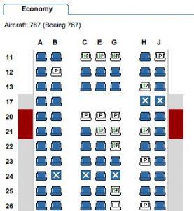 aménagement intérieur avion