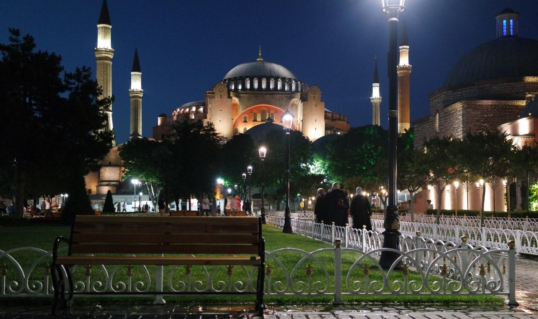 sainte sophie nuit istanbul