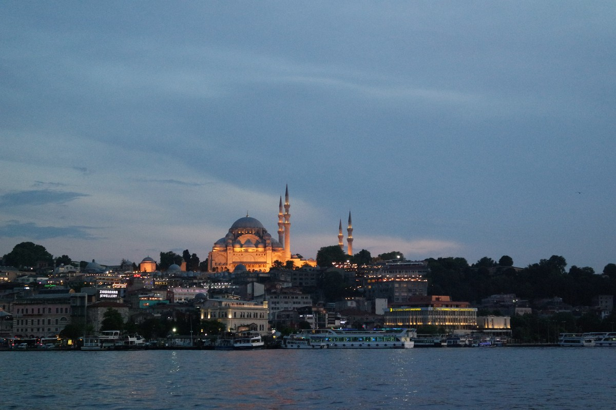mosquee souleymane nuit istanbul